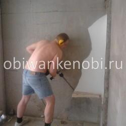 Подготовка к ремонту, демонтаж шиферной сантехкабины